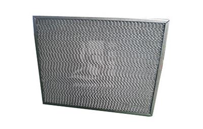 Metal flat filter