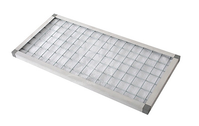 Front of plate filter