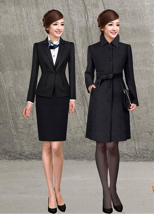 高级职业装女装大衣